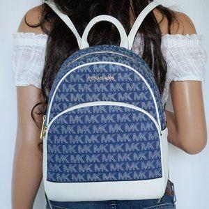 Michael Kors Abbey M Backpack MK Denim White